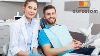 Лечение среднего или глубокого кариеса с установкой светоотверждаемой пломбы в стоматологии «Евростом»!